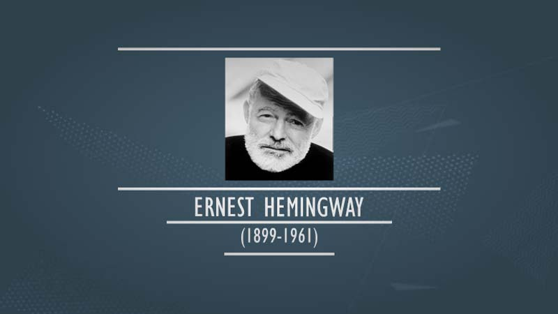 an introduction to the life of ernest miller hemingway Ernest hemingway (b on july 21st, 1889 in oak park, illinois-d july 2nd, 1961)   the enduring hemingway: an anthology of a lifetime in literature ernest.