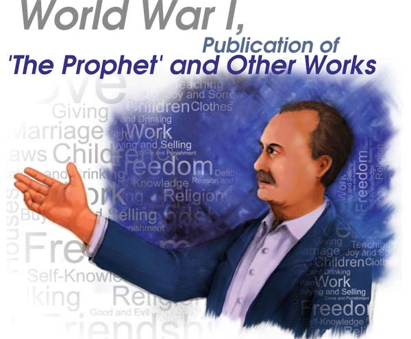 world-war-i-publication-of-the-prophet-and-other--works