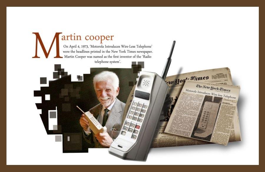 Martin COOPER Le Dyanatac de Motorola
